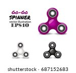 purple plastic spinner vector... | Shutterstock .eps vector #687152683