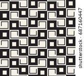 vector seamless pattern. modern ... | Shutterstock .eps vector #687160447