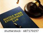 hostile work environment law on ... | Shutterstock . vector #687170257