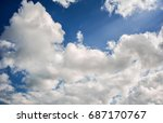 blue sky and  the rays of the... | Shutterstock . vector #687170767