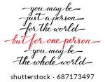 phrase handwriting valentines... | Shutterstock .eps vector #687173497