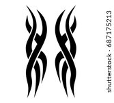 tribal tattoo art designs.... | Shutterstock .eps vector #687175213