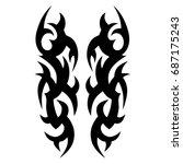 tattoo tribal vector design....   Shutterstock .eps vector #687175243