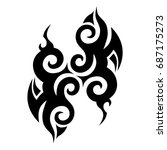 tribal tattoo art designs....   Shutterstock .eps vector #687175273