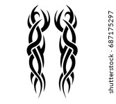 tribal tattoo art designs.... | Shutterstock .eps vector #687175297