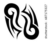 tattoo tribal vector design.... | Shutterstock .eps vector #687175327