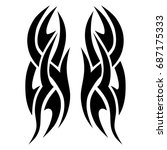 tribal tattoo art designs.... | Shutterstock .eps vector #687175333