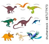 vector illustrations set of... | Shutterstock .eps vector #687177973