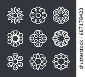 flower logo design elements in... | Shutterstock .eps vector #687178423