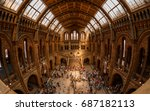 london  circa 2015   fisheye... | Shutterstock . vector #687182113