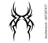 tribal tattoo art designs.... | Shutterstock .eps vector #687187477