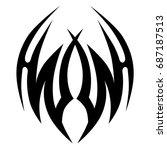 tribal tattoo art designs.... | Shutterstock .eps vector #687187513