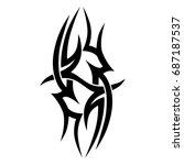tattoo tribal vector design.... | Shutterstock .eps vector #687187537