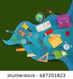 back to school background.... | Shutterstock .eps vector #687201823