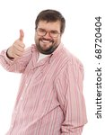 happy casual man with his thumb ... | Shutterstock . vector #68720404