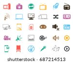 multimedia icons | Shutterstock .eps vector #687214513