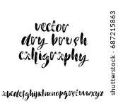 hand drawn elegant calligraphy... | Shutterstock .eps vector #687215863