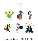 superheroes.set of superhero... | Shutterstock .eps vector #687217387
