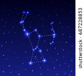 the constellation of orion in... | Shutterstock .eps vector #687228853