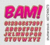 creative high detail comic font.... | Shutterstock .eps vector #687240673