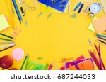 back to school or office styled ... | Shutterstock . vector #687244033