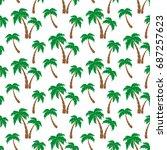 Palm Trees. Seamless Pattern....