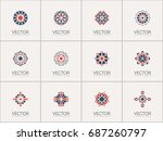 geometric logo template set.... | Shutterstock .eps vector #687260797