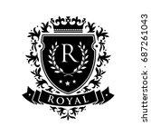 royal. heraldic emblem shield... | Shutterstock .eps vector #687261043