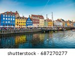 nyhavn district is one of the... | Shutterstock . vector #687270277