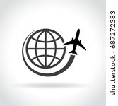illustration of travel icon on...   Shutterstock .eps vector #687272383