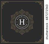 ornament logo design template...   Shutterstock .eps vector #687272563