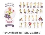 ready to use character set.... | Shutterstock .eps vector #687282853