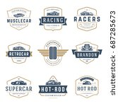 car logos templates vector... | Shutterstock .eps vector #687285673