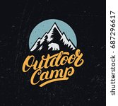 outdoor camp hand written... | Shutterstock . vector #687296617