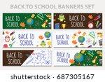 back to school set of banners ...   Shutterstock .eps vector #687305167
