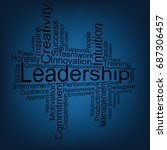 leadership tag cloud | Shutterstock .eps vector #687306457