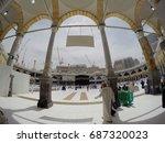 mecca  saudi arabia  april 13... | Shutterstock . vector #687320023