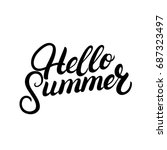 hello summer hand written... | Shutterstock . vector #687323497