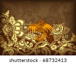 abstract floral background   Shutterstock .eps vector #68732413