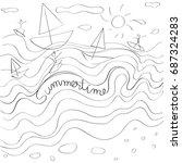 summertime childish composition ...   Shutterstock .eps vector #687324283