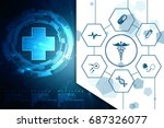 2d illustration health care and ... | Shutterstock . vector #687326077