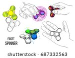 vector illustration of set... | Shutterstock .eps vector #687332563