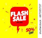 flash sale  50 percent off ... | Shutterstock .eps vector #687335737