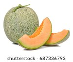 Melon Isolated On The White...