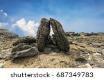 special geology of columnar...   Shutterstock . vector #687349783
