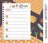 vector template of recipe card. ... | Shutterstock .eps vector #687370027