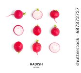 Seamless Pattern With Radish....