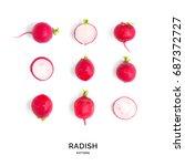 Seamless Pattern With Radish....