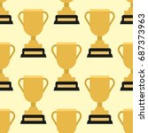 vector trophy champion cup... | Shutterstock .eps vector #687373963