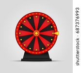 roulette  wheel of fortune icon.... | Shutterstock .eps vector #687376993